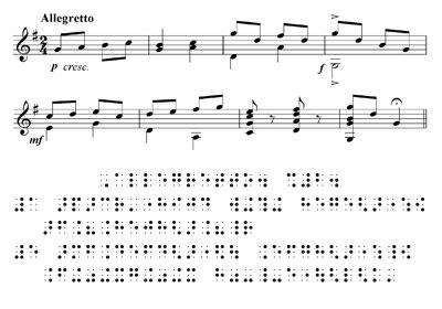 Braille Müzik sistemi