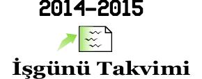2014-2015 İşgünü Takvimi