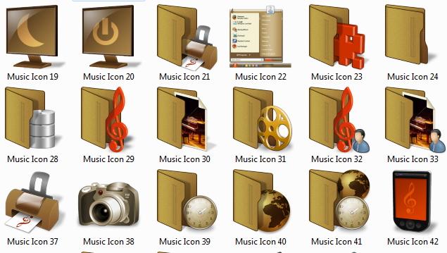 müzik iconları