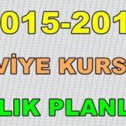6.Sınıf Kurs Planı 2