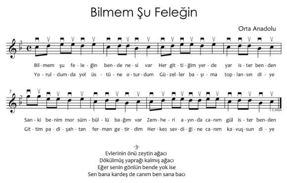 Bağlama İçin Türküler 1