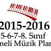 Ortaokul ( 5/6/7/8.Sınıflar ) Seçmeli Müzik Dersi Yıllık Planları 2