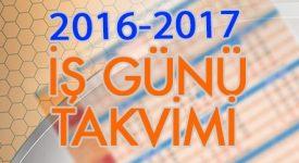 2016-2017 Çalışma Takvimi 2