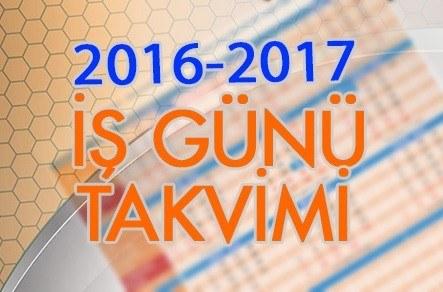 2016-2017 Çalışma Takvimi 1