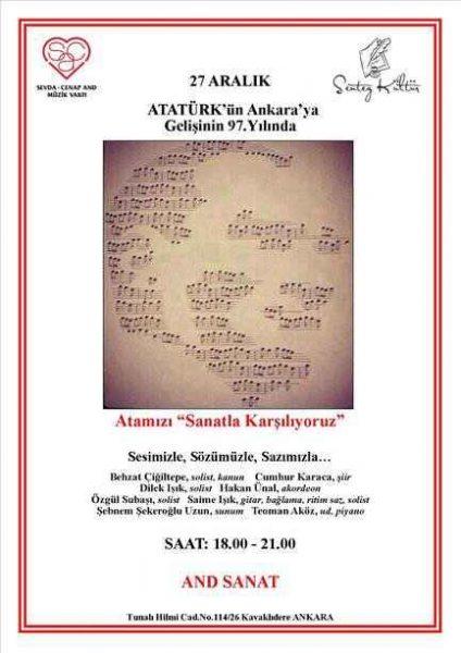 """Atamızı Ankara'da """"Sanatla Karşılıyoruz"""" 4"""