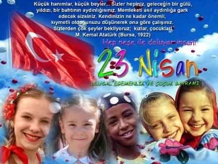 23 Nisan Ulusal Egemenlik ve Çocuk Bayramı 1