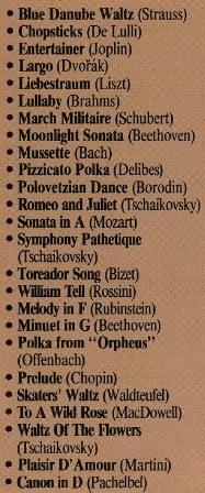 Basitleştirilmiş Piyano Eserleri 1