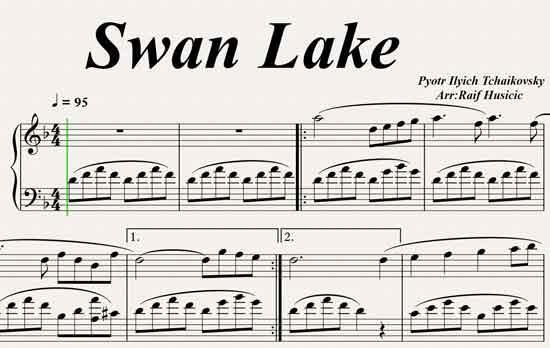 Kuğu Gölü (Swan Lake) Piyano eşlik 1