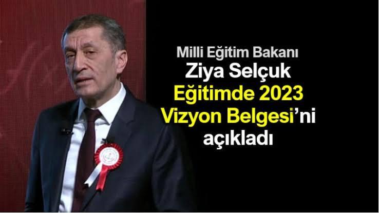 Milli Eğitim Bakanı Ziya Selçuk, Vizyon Belgesi'ni açıkladı 1