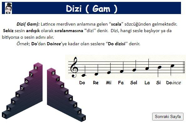 Müzikte Diziler (Gam) 6